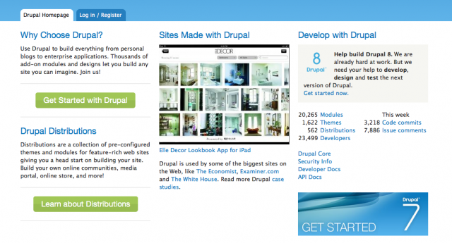 Drupal CMS Website screenshot