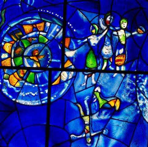 Chagall stain glass from Art Institute - Chicago