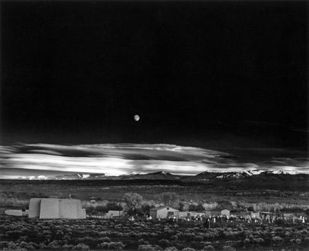 Moonrise over Hernandez by Ansel Adams, 1941