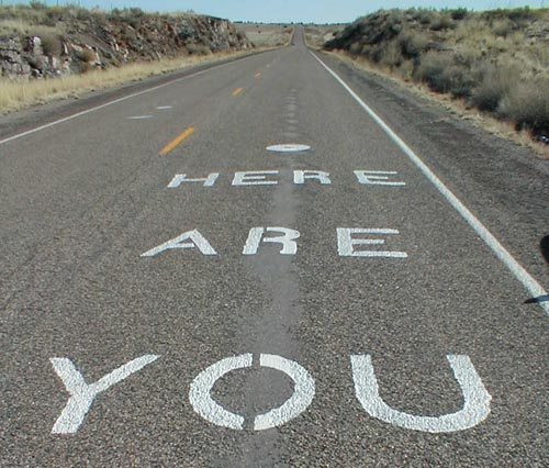 From where you are... the road has a beginning, middle, and end