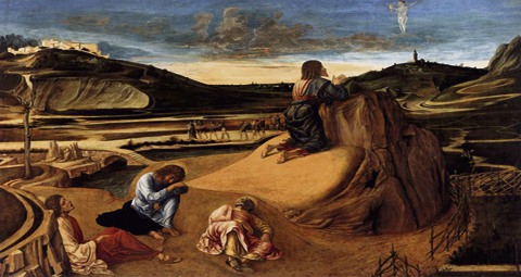 Giovanni Bellini 1459  - not just the garden, but many wilderness prayers