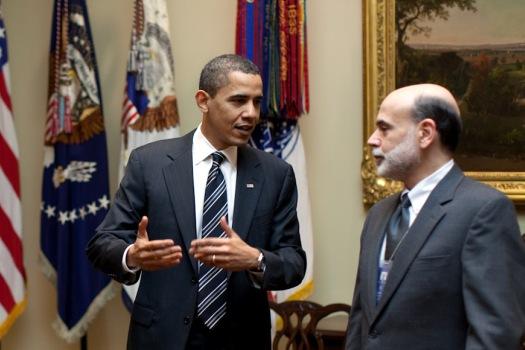 Bernanke listens to Obama (who's listening to God?)