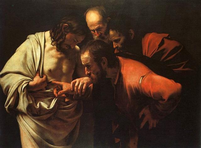 I like how Thomas gets fully involved in examining Jesus