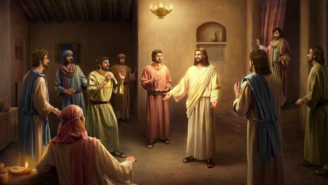 The small group Pentecost comes first