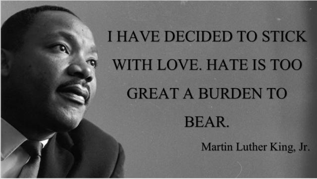 MLK is one of the best modern examples of doing what Jesus teaches
