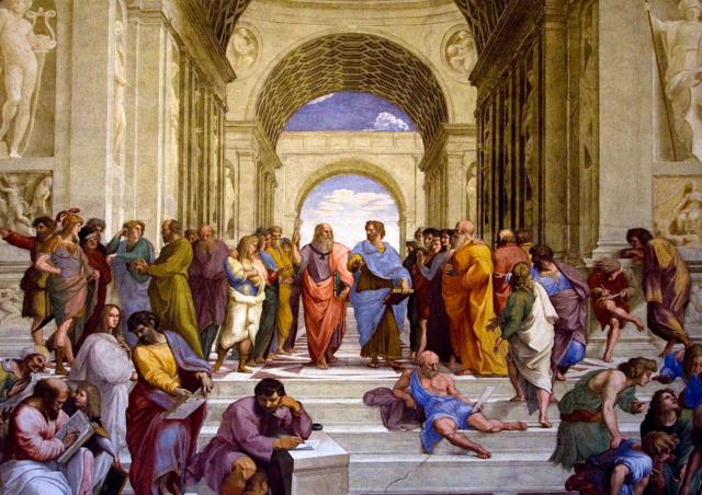 "Raphael's Vatican fresco ""The School of Athens"""