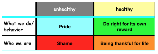 How Shame and Pride relate to each other