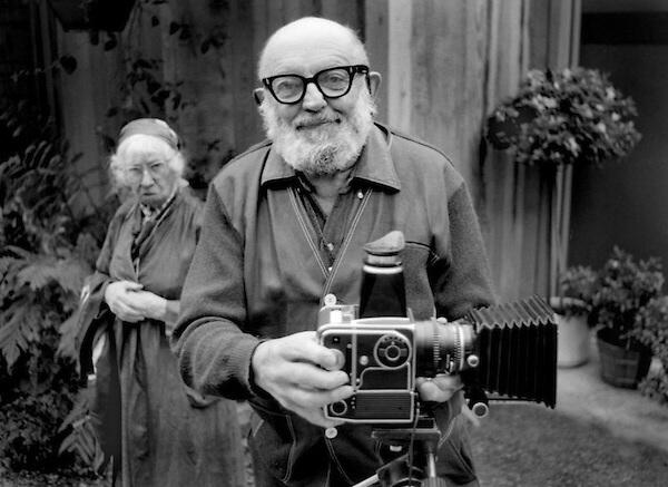 Ansel Adams with his Hasselblad