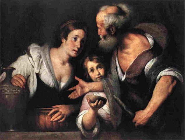 The Syrian widow takes in the refugee Elijah