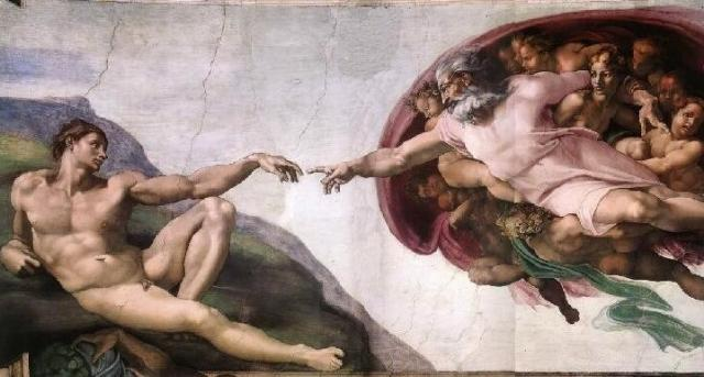 Sistine Chapel - God using his personal touch