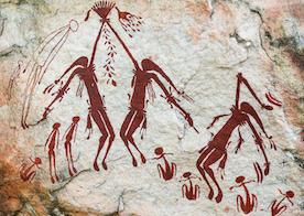 Aboriginal rock art displays the joy of dancing
