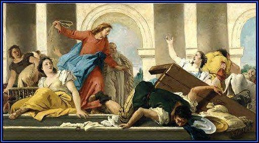 If you think taking a knew is distracting, Jesus took a whip