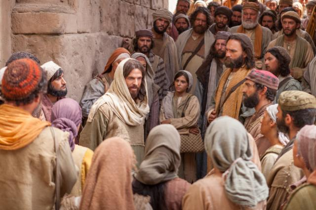 Jesus seen in the crowd, but more often found in solitude