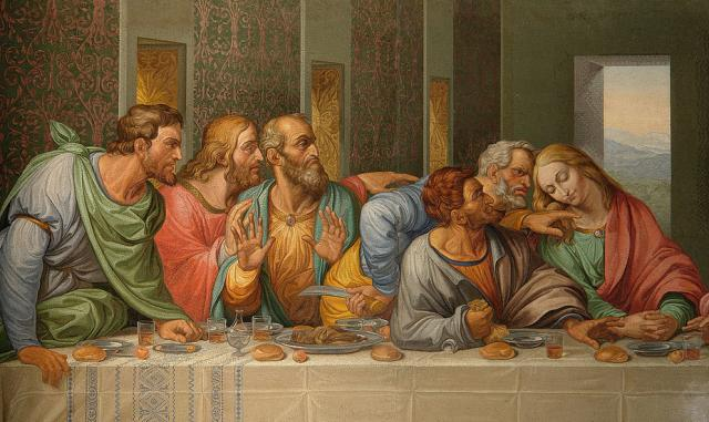 Judas was at the last supper, waiting...