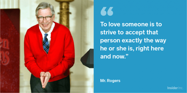 Mr Rogers always spoke for acceptance of diversity