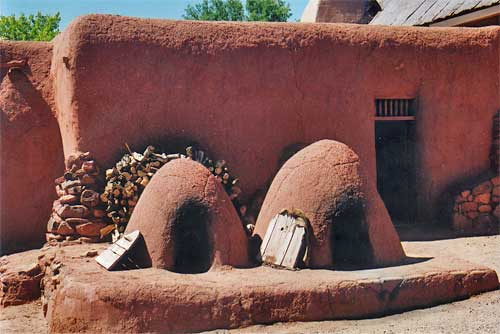 Traditional Navajo home, bread is made each day in ovens