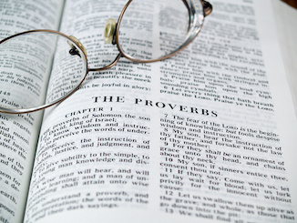 Wisdom literature is found in the middle of the Bible