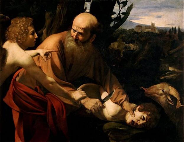 The binding of Isaac - Caravaggio