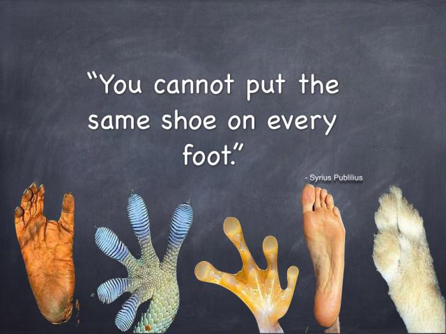 How do we form community? Make each other shoes.