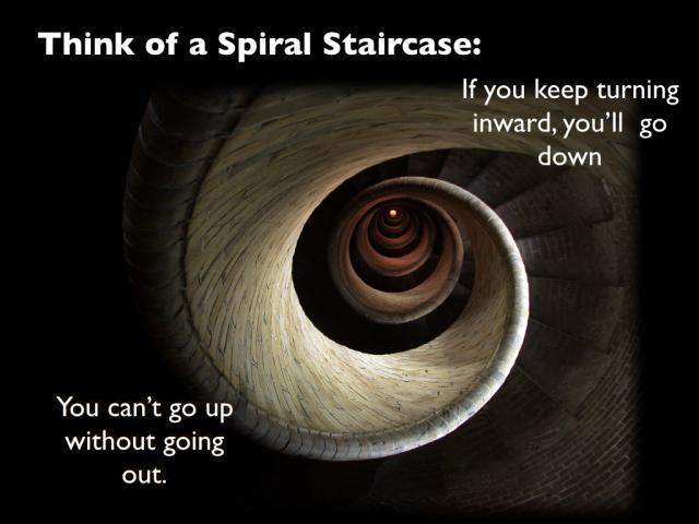 As disciples we can either go upward and outward or down & in