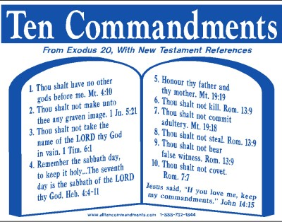 The Ten commandments should be divided 4 and 6