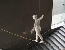 Tightrope walker by Segal