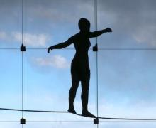 "George Segal, ""Girl on a Tightrope"" - Carnegie Museum, Pgh"